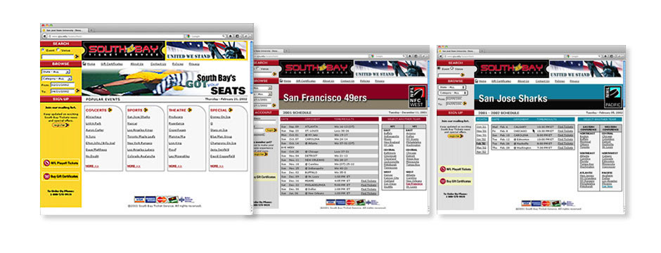 South Bay Tickets